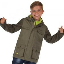 Regatta Boys Scarper Waterproof Breathable Rain Coat Jacket Kids Age 5-12yrs Fauna Grape 9-10 Years