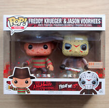 Funko Pop Freddy Krueger & Jason Voorhees Bloody 2 Pack + Free Protector
