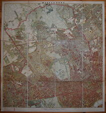 LONDON SCHOOL BOARD MAP OF MARYLEBONE 1893.