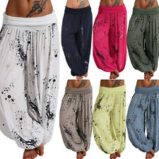 Ladies Boho Gypsy Loose Harem Pants Hippie Casual Yoga Comfy Hareem Trousers
