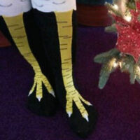 Women 3D Funny Chicken Socks Knee Thigh High for Girl Lady Cosplay Party Dancing