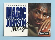 MAGIC JOHNSON JIM KELLY 1992 SKYBOX IMPACT DUAL AUTOGRAPH AUTO SP /500