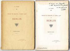 Naef: souvenir du dimanche 25 octobre 1908 à berlín. widmungsexemplar.