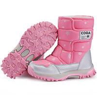 Kids Winter Shoes Boys Girls Outdoor Waterproof Snow Boots Fur Warm High Top Hot