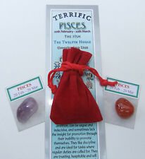 "Pisces-bookmark-birthstones-red Velvet Pouch - ""Astrology il codice segreto"" LIBRO"
