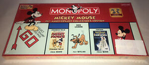 BRAND NEW SEALED   Mickey Mouse 75th Anniversary Disney Monopoly Pewter Tokens