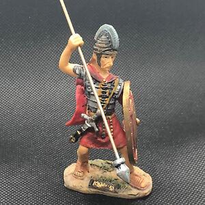 Vintage Roman Resin Figurine Solider Statue Shield Speer Sword Cesar Guard Roma