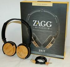 NEW Zagg ZR-T Premium Wood Stereo Headphones BAMBOO Deluxe iPhone 7+/6+/5S/SE/7