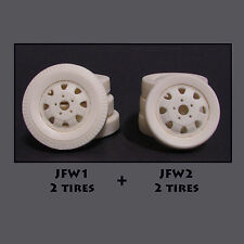 Jimmy Flintstone Resin Truck Wheels & Tires - Set Of 4 -  #JFW4
