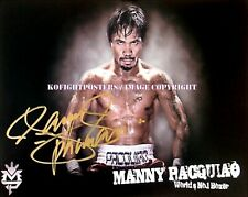 MANNY PACQUIAO Signed 10in x 8in 'WORLDS NO.1' Team Pac Cert