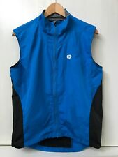 Pearl Izumi Cycling Vest Mens M Medium Blue Full Zip Nylon Vented Lightweight