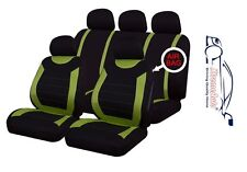 9 PCE Sports Carnaby Green/ Black Full Set of Seat Covers Toyota Auris Yaris