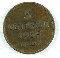 Moneda San Marino 5 Centesimi 1935 (R: Roma) | World Coins