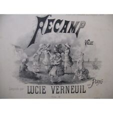 VERNEUIL Lucie Fécamp Piano ca1850 partition sheet music score