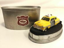 Fossil Taxi Cab Desk Clock Limited Edition Timepiece Tin Display