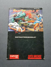 Street Fighter II Instruction Booklet For Super Nintendo SNES
