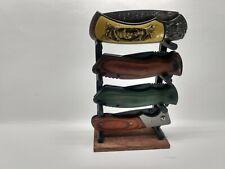 Knife Display Stand for Pocket Knives Gift Sportsman Hunter