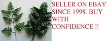 12 Silk Leather Fern Leaf Stems Wholesale ,Cemetary / Memorial, Silk Greenery