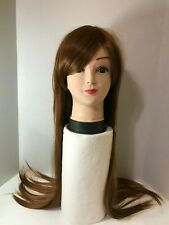 """Women's Royalstyle Long Straight 32"""" Brown Cosplay Wig & Weaving Cap - New"""
