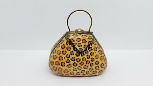 Limoges Chanille Peint Main Porcelain Handbag Trinket Box