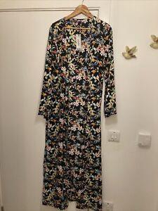 Boohoo Floral Kimono Size 14 Tall Beachweat