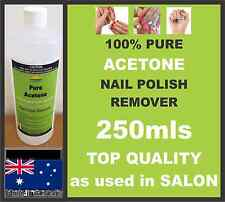 250ML ACETONE 100% PURE,NAIL POLISH REMOVER,PAINT/GEL REMOVER, SALON QUALITY