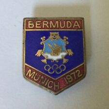 Bermuda Olympic Pin Badge Noc From The 1972 Munich Germany Olympiad