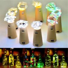 Charming Cork Shaped LED Night Light Starry Light Wine Bottle Lamp Xmas Decor