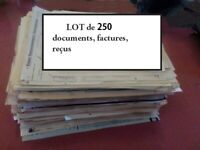 Lot de 250 factures, entêtes et documents ; origine France avant 1950