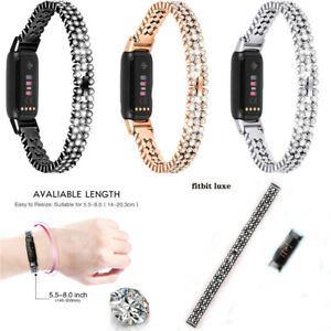 Stainless Steel Metal Bracelet Watch Replacement Wristband Strap For Fitbit Luxe
