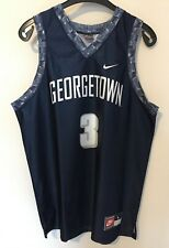 NCAA Allen IVERSON #3 Georgetown Hoyas -Nike- Blue/Grey Size L