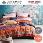 Logan & Mason India Spice Boho Chic DOUBLE Size Bed Doona Duvet Quilt Cover Set