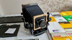 Huge 4x5 bundle - Chroma adv camera, lens, holders, lots of film, dryplates, etc
