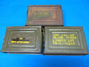 3 US WWII .30 cal M1 Ammunition Box Ammo Can Cans Browning 1919A4 1919 1919A6 (A