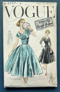 1956 Vogue Pattern 4727 One Piece Cocktail Dress