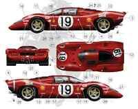 [FFSMC Productions] Decals 1/18 Ferrari 312P 18 et 19 des 24 Heures du Mans 1969