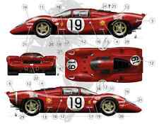 [FFSMC Productions] Decals 1/43 Ferrari 312P 18 et 19 des 24 Heures du Mans 1969