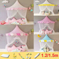 Kid Bed Canopy Princess Hanging Play Tent Study Reading Corner Half Moon Curtain