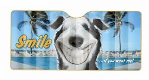 Twisted Whiskers Front Windscreen Sun Shade [Size: Large] [Style: Smile! - Dog]