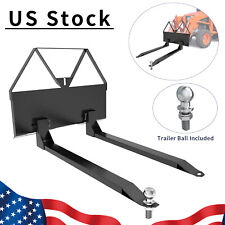 "Skid Steer Loader Tractor Pallet Forks 46"" Tractor Forks Quick Tach Attachment"