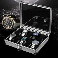 6/12/24 Grids Aliminum Watch Case Display Box Jewellery Storage Organizer Holder