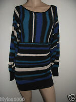 FRENCH CONNECTION BLUE STRIPE TUNIC SIZE 8 NWT
