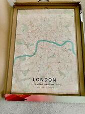 Displate Metal Picture Print Art London Map Retro Large BNIB In Box