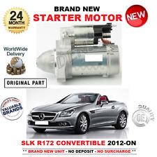 FOR MERCEDES BENZ SLK R172 CONVERTIBLE STARTER MOTOR 2012-> 250 CDi 204 bhp