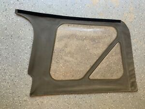 2003-2006 Jeep Wrangler Driver Left Rear Clear Window Khaki Used