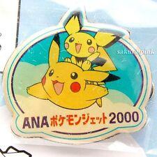HePichu & Pikachu ANA's Cabin attendant Badge model 2000 Pokemon Jet Promo Japan