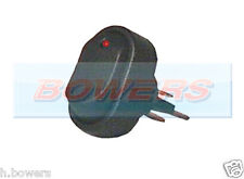 12V VOLT RED LED ILLUMINATED MINI OVAL ROCKER SWITCH ON/OFF CAR VAN DASHBOARD