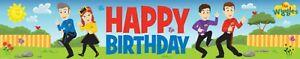 "The Wiggles ""Happy Birthday"" Party Banner  Plastic 150cm x 30cm"