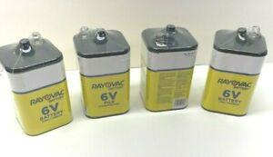 Rayovac 6V Zinc Carbon Battery Lot of 4
