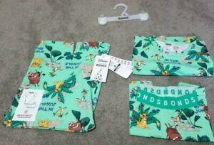 Bonds Disney Lion King Size 6 Green PJs Short Sleep Set Limited Edition BNWT